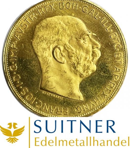 100 Kronen Goldmünze - 100 Corona Österreich