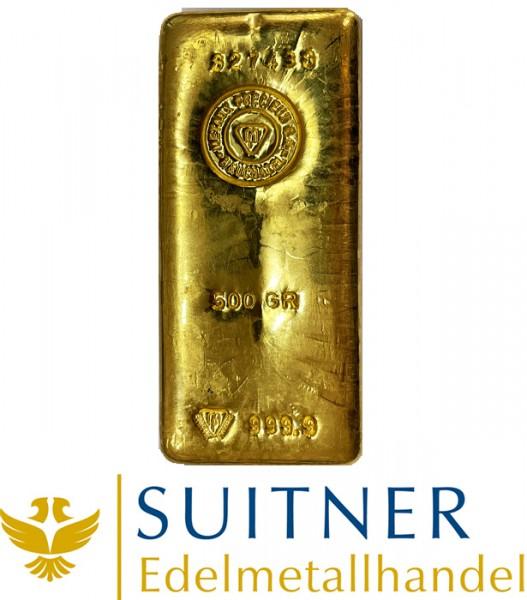500 Gramm Goldbarren Preciuex Neuchatel