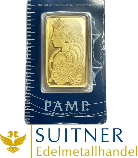 100 Gramm Goldbarren Fortuna PAMP Sa Suisse