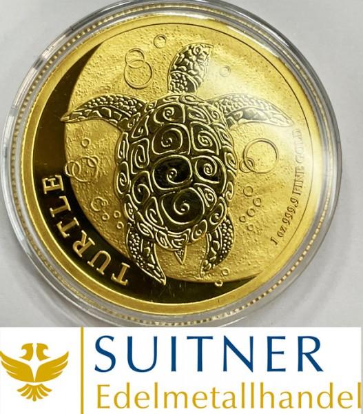 200 Dollars Turtle - Fiji Taku - eine Unze Feingold - Schildkröte
