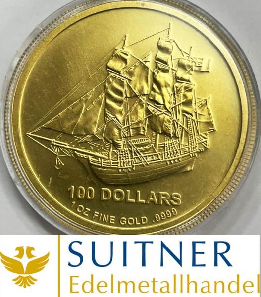 100 Dollars Cook Island Gold - eine Unze Feingold