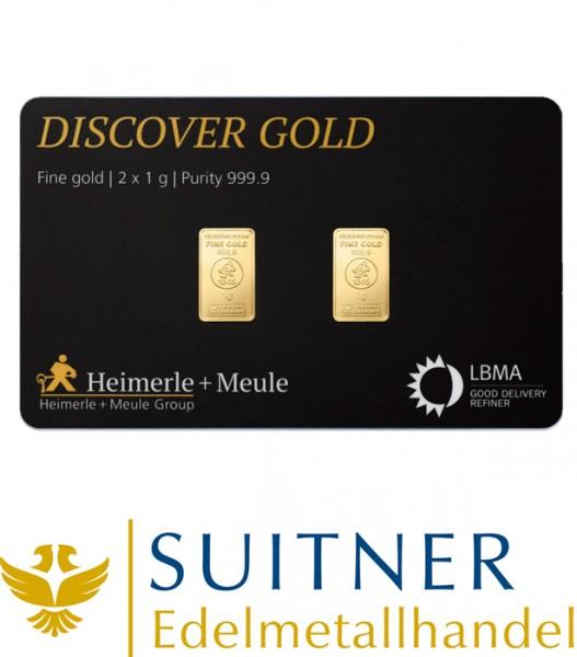 2 Gramm Gold FineCard Heimerle und Meule - Geschenkkarte
