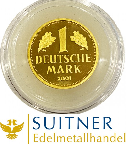 1 DM Gold - Deutsche Mark 12 Gramm Feingold