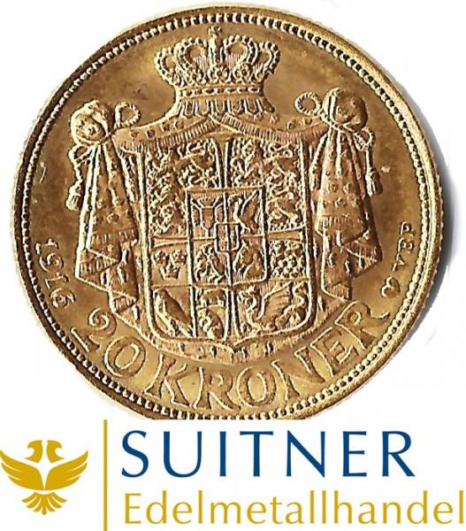 20 Kroner Gold - Dänemark - 20 dänische Kronen
