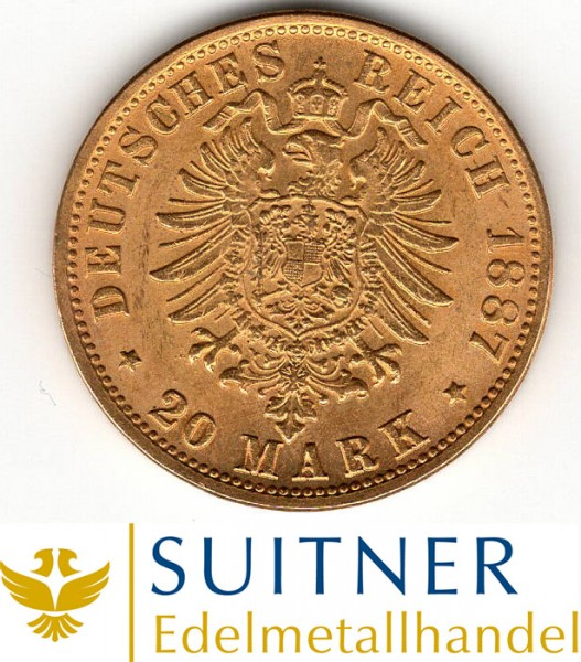 Ankauf 20 Mark Preussen Goldmünze - Deutsches Kaiserreich
