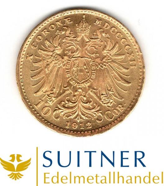 Ankauf 10 Kronen Goldmünze - 10 Corona Österreich