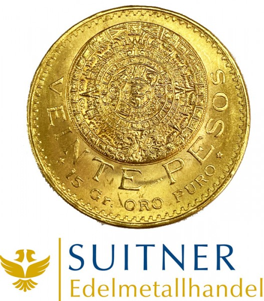 Goldmünze 20 Pesos Mexico Centenario