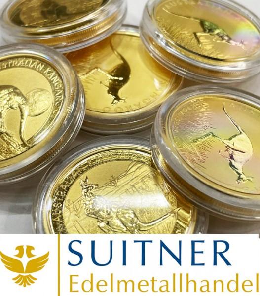 100 Dollars - Australien Känguru - Gold - 1Oz Feingold