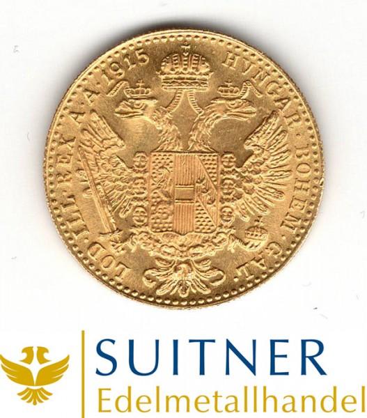 1 Dukaten 986 Gold - Österreich - 1915