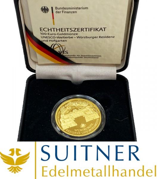 100 Euro Gold - Würzburger Residenz