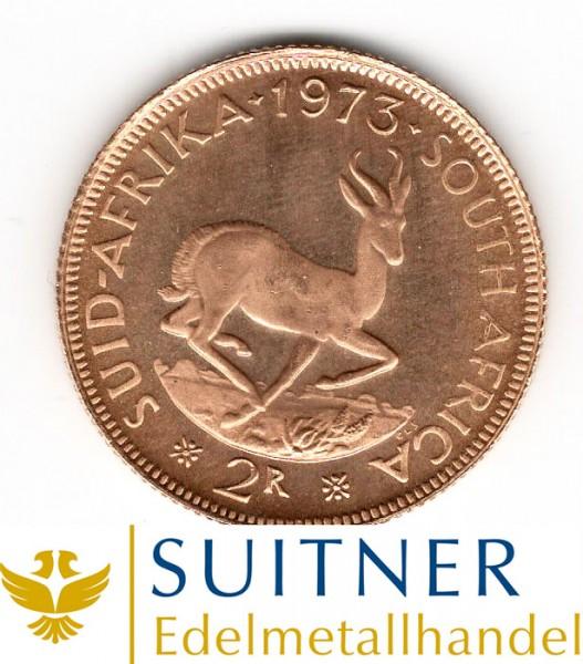 Ankauf 2 Rand Goldmünze - Südafrika