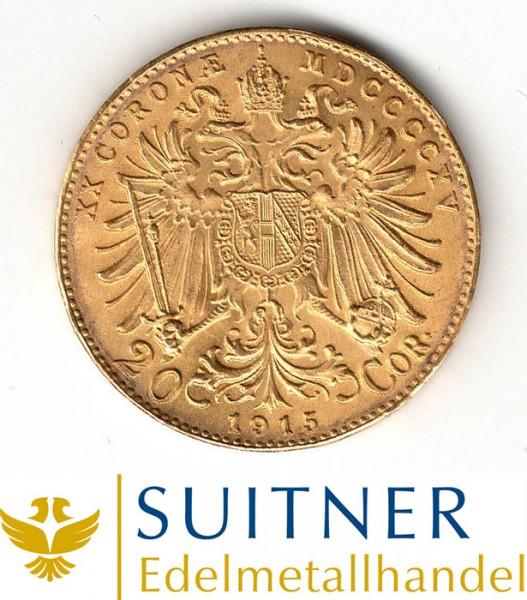 Ankauf 20 Kronen Goldmünze - 20 Corona Österreich