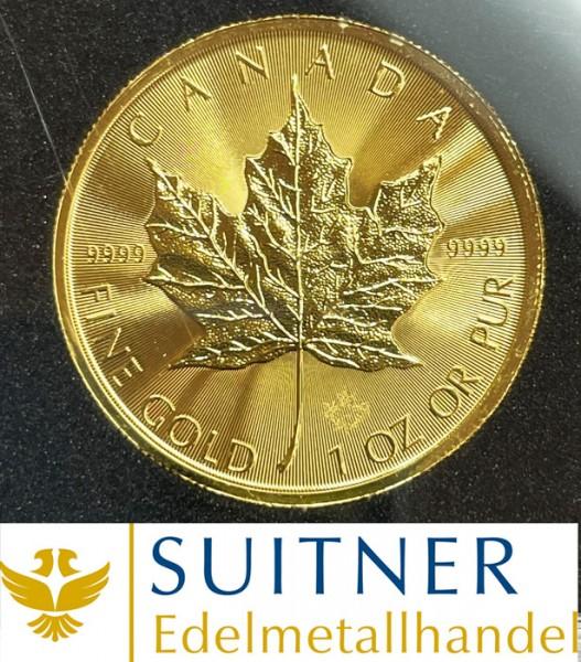1 Unze Feingold Maple Leaf - ab 2015 - mit neuen Sicherheitsmerkmalen
