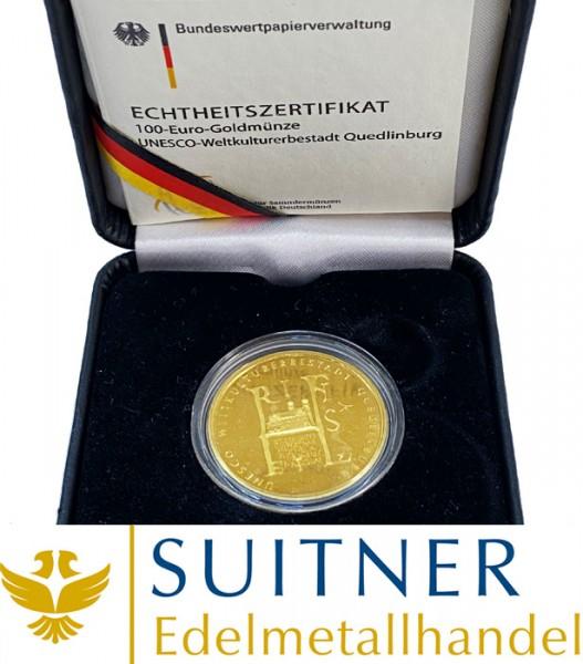 100 Euro Gold - Quedlinburg