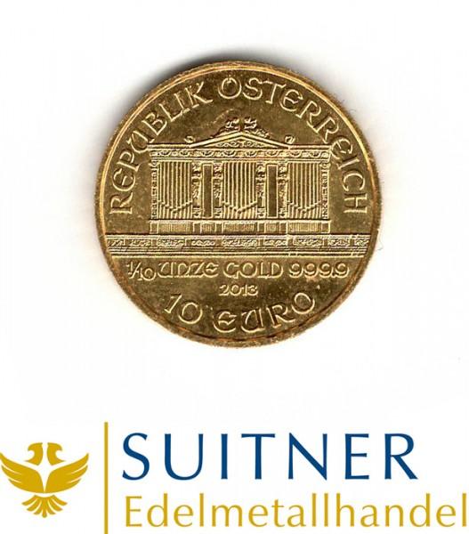 Ankauf 1/10 Unze Gold Wiener Philharmoniker