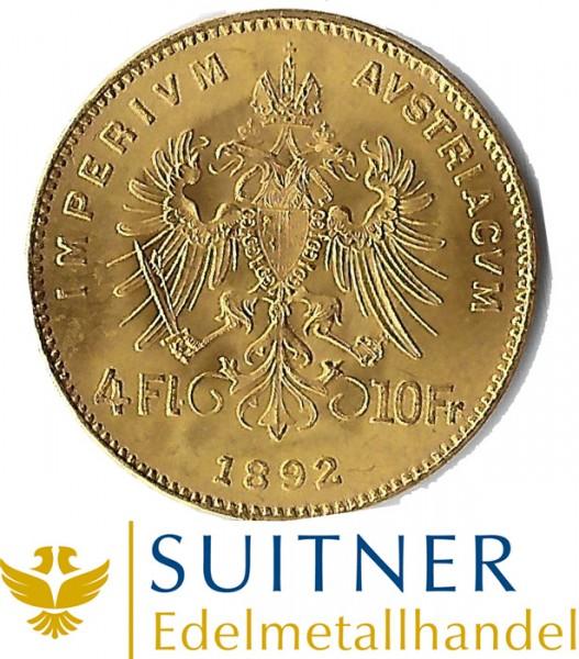 4 Florin Goldmünze Österreich