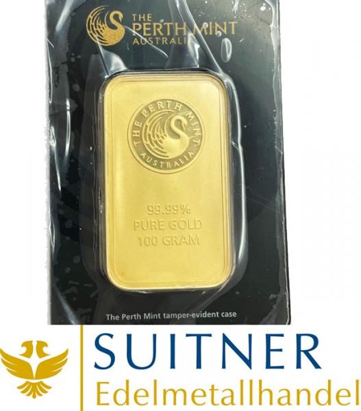 100 Gramm Goldbarren Perth Mint