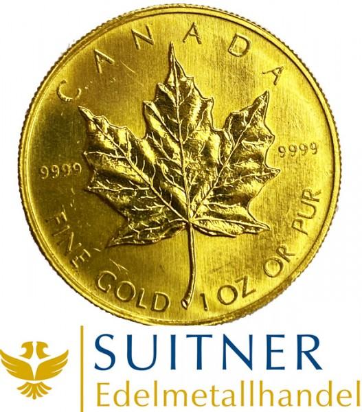 1 Unze Feingold Maple Leaf