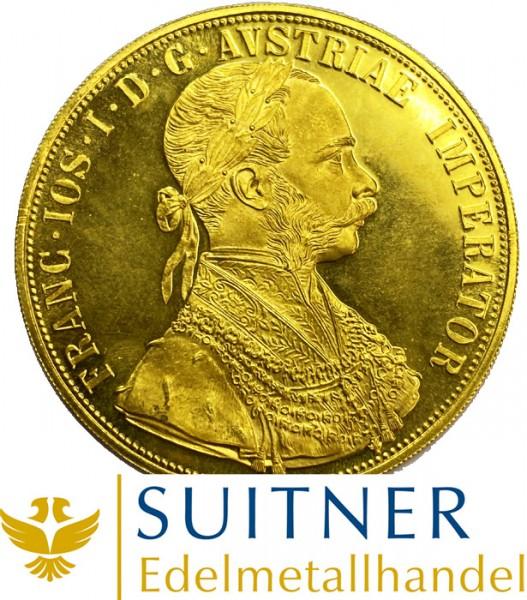 4 Dukaten aus 986 Gold - Österreich - 1915