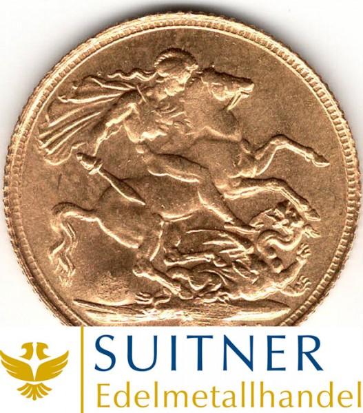 1 Sovereign Goldmünze - 1 Pfund Großbritannien