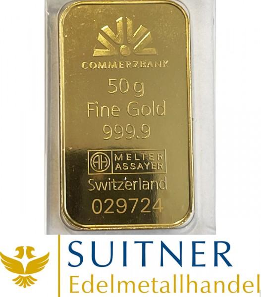 50 Gramm Goldbarren Feingold